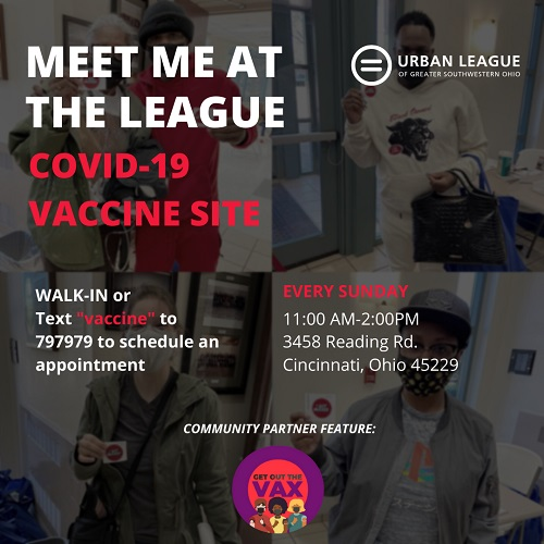 Urban League Vaccine Flier (all text in story)